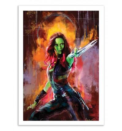 Art-Poster 50 x 70 cm - Gamora - Wisesnail