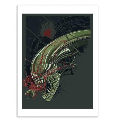 Art-Poster 50 x 70 cm - Alien - Samuel Ho