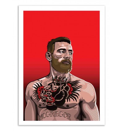 Art-Poster 50 x 70 cm - Connor Mc Gregor - Samuel Ho