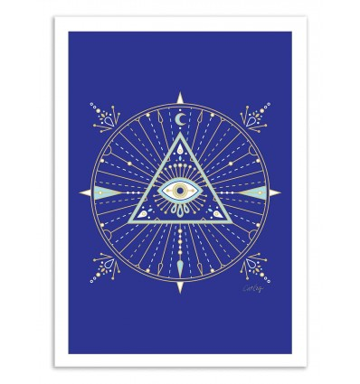 Art-Poster 50 x 70 cm - All seeing eye - Cat Coquillette