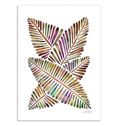 Art-Poster 50 x 70 cm - Banana Leaves - Cat Coquillette