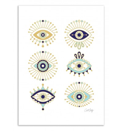 Art-Poster 50 x 70 cm - Eyes - Cat Coquillette