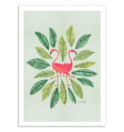 Art-Poster 50 x 70 cm - Flamingos - Cat Coquillette