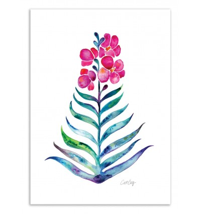 Art-Poster 50 x 70 cm - Orchid Bloom - Cat Coquillette