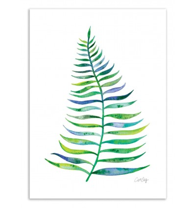 Art-Poster 50 x 70 cm - Palm Leaf - Cat Coquillette