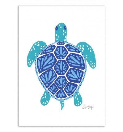 Art-Poster 50 x 70 cm - Sea Turtle - Cat Coquillette