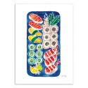 Art-Poster - Sushi Platter - Cat Coquillette