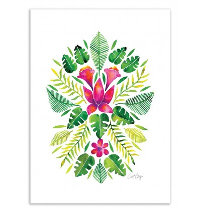 Art-Poster 50 x 70 cm - Tropical Symmetry - Cat Coquillette