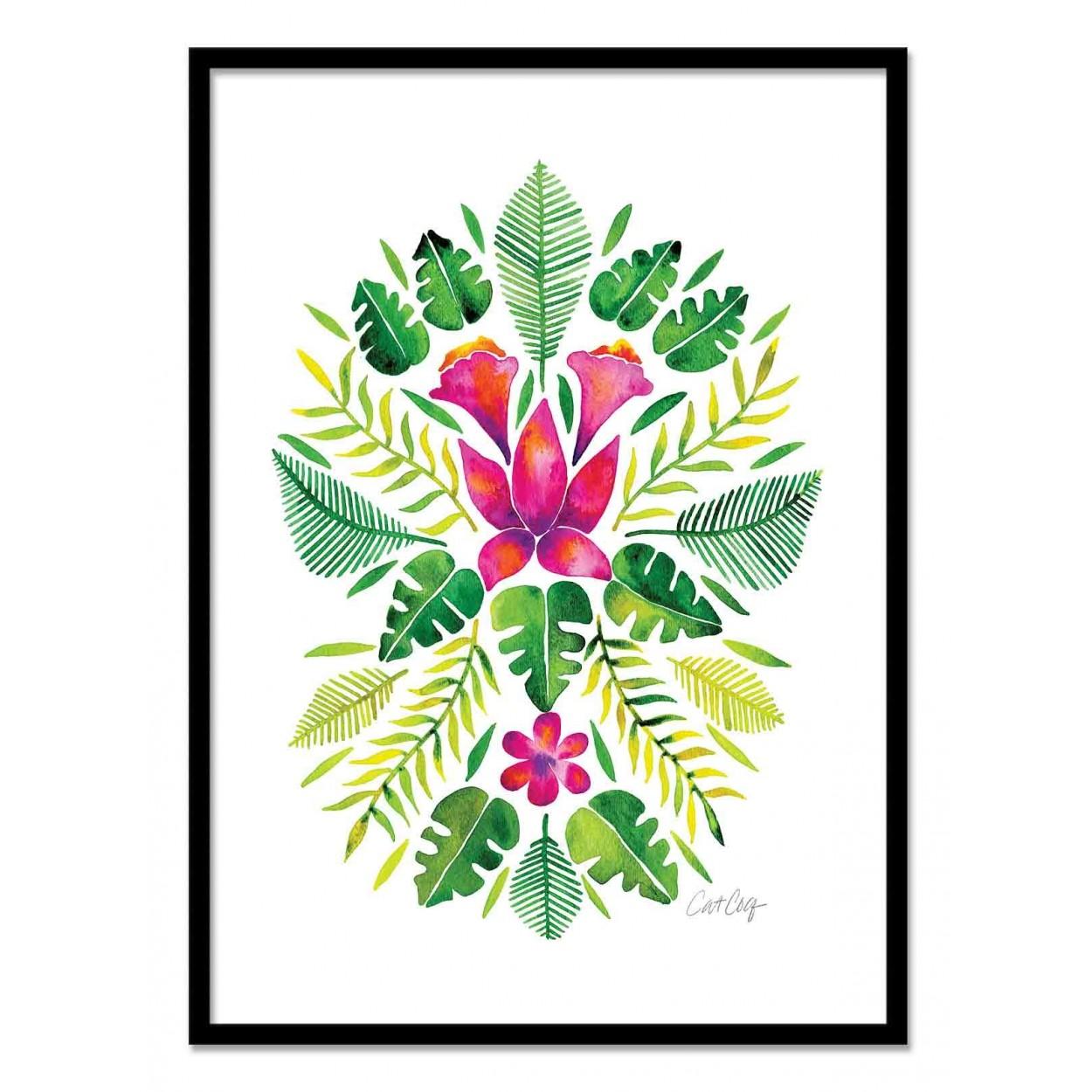 affiche art poster encadr et illustration en aquerelle de plantes. Black Bedroom Furniture Sets. Home Design Ideas
