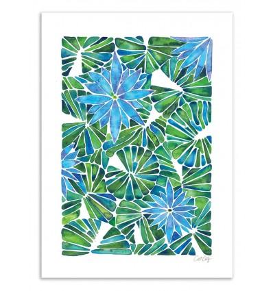 Art-Poster 50 x 70 cm - Water Lilies - Cat Coquillette