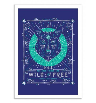Art-Poster 50 x 70 cm - Wild and Free - Cat Coquillette