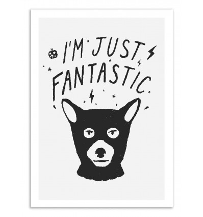 Art-Poster 50 x 70 cm - I'm just Fantastic - Florent Bodart