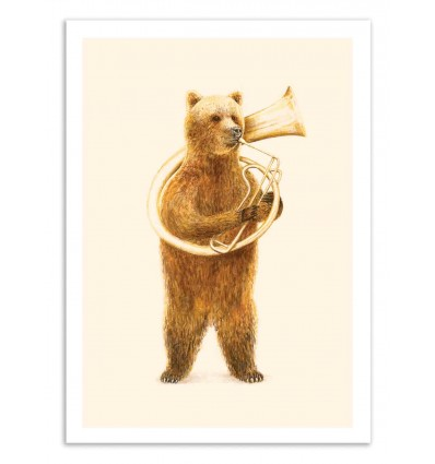 Art-Poster 50 x 70 cm - The bear and it's Helicon - Florent Bodart