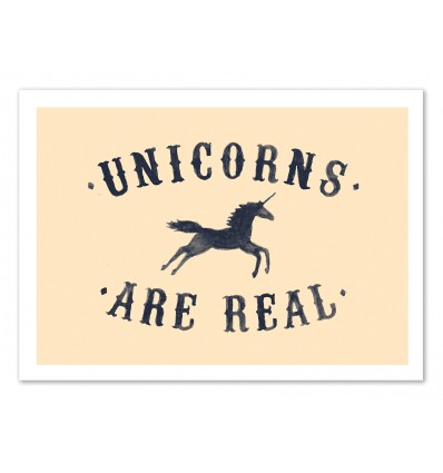 Art-Poster 50 x 70 cm - Unicorns are real - Florent Bodart