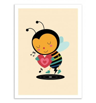 Art-Poster 50 x 70 cm - Bee yourself - Andy Westface