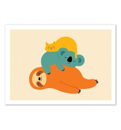 Art-Poster 50 x 70 cm - Being Lazy - Andy Westface