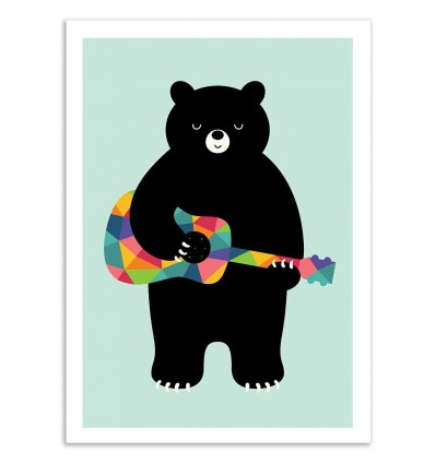 Art-Poster 50 x 70 cm - Happy Song - Andy Westface