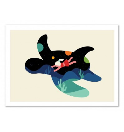 Art-Poster 50 x 70 cm - Ocean Roaming  - Andy Westface