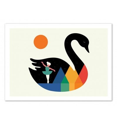 Art-Poster 50 x 70 cm - Swan Dance  - Andy Westface
