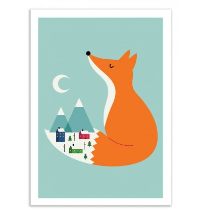 Art-Poster 50 x 70 cm - Winter Dreams - Andy Westface