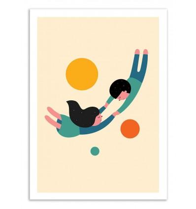 Art-Poster 50 x 70 cm - Won't let go - Andy Westface