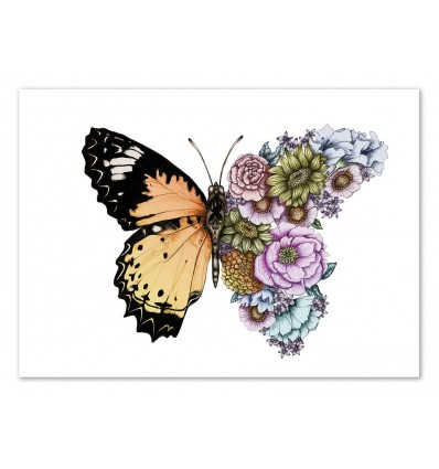 Art-Poster 50 x 70 cm - Butterfly in bloom - Robert Farkas