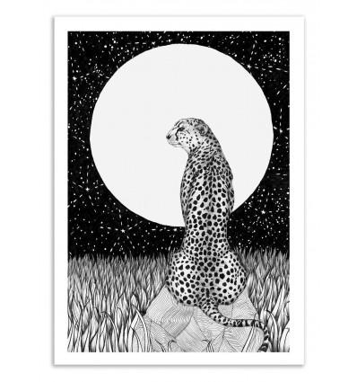 Art-Poster 50 x 70 cm - Cheetah Moon - Ella Mazur