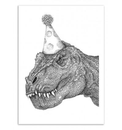 Art-Poster 50 x 70 cm - Party Dinosaur - Ella Mazur