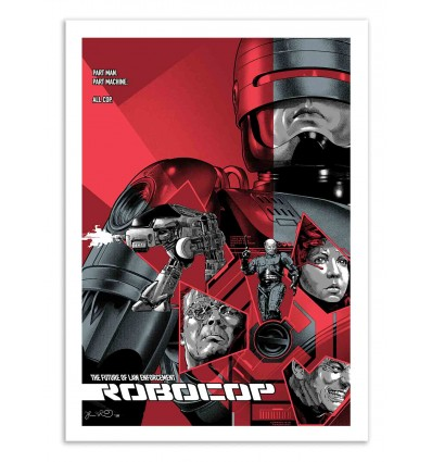 Art-Poster 50 x 70 cm - Robocop Movie -  Joshua Budich