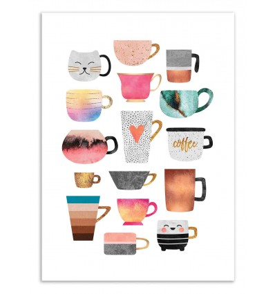 Art-Poster 50 x 70 cm - Coffee Cup Collection - Elisabeth Fredriksson