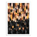 Art-Poster - Feather copper and black - Elisabeth Fredriksson