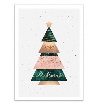 Art-Poster 50 x 70 cm - Christmas Tree - Elisabeth Fredriksson