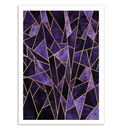 Art-Poster 50 x 70 cm - Shattered Amethyst - Elisabeth Fredriksson