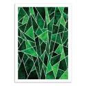 Art-Poster - Shattered Emerald - Elisabeth Fredriksson