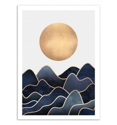 Art-Poster 50 x 70 cm - Waves - Elisabeth Fredriksson