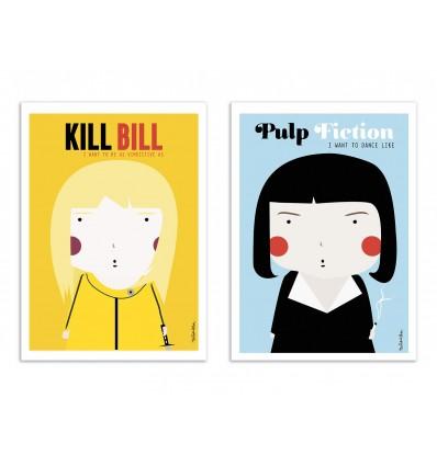 2 Art-Posters 30 x 40 cm - Duo Tarantino - Ninasilla