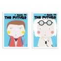 2 Art-Posters 30 x 40 cm - Duo Back to the Future - Ninasilla
