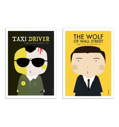 2 Art-Posters 30 x 40 cm - Duo Scorcese Movies - Ninasilla