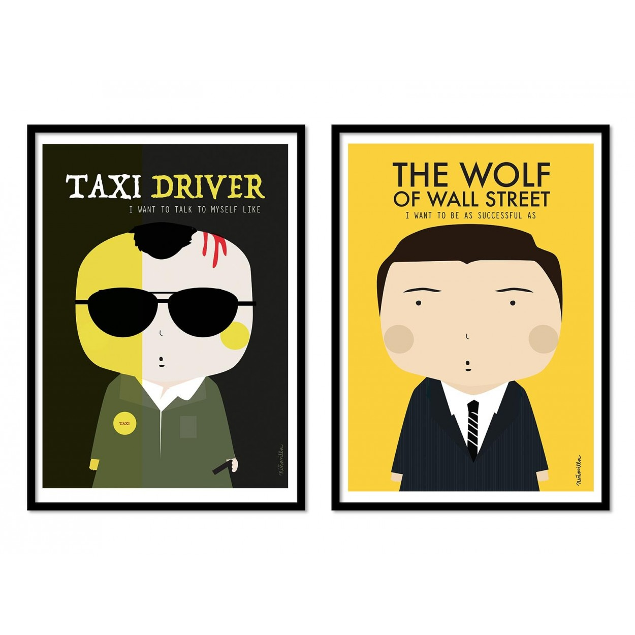 Illustrations Art Poster, fan-art prints decoration of Scorcese movies