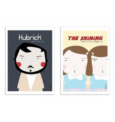 2 Art-Posters 30 x 40 cm - Duo Kubrick Movies - Ninasilla