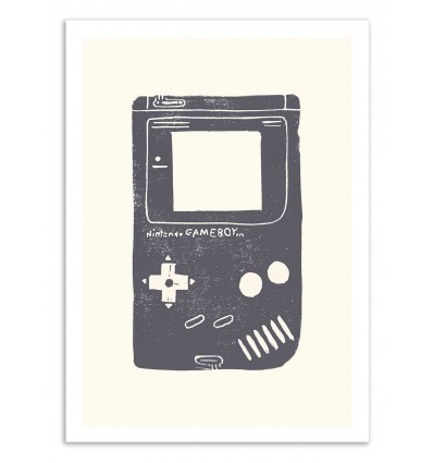 Art-Poster 50 x 70 cm - Block Print Game Boy - Bianca Green