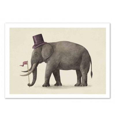 Art-Poster 50 x 70 cm - Elephant Day - Terry Fan