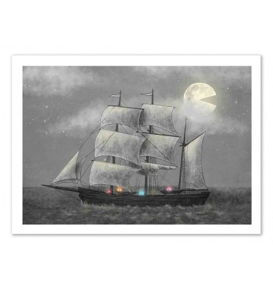 Art-Poster 50 x 70 cm - Ghost Ship - Terry Fan
