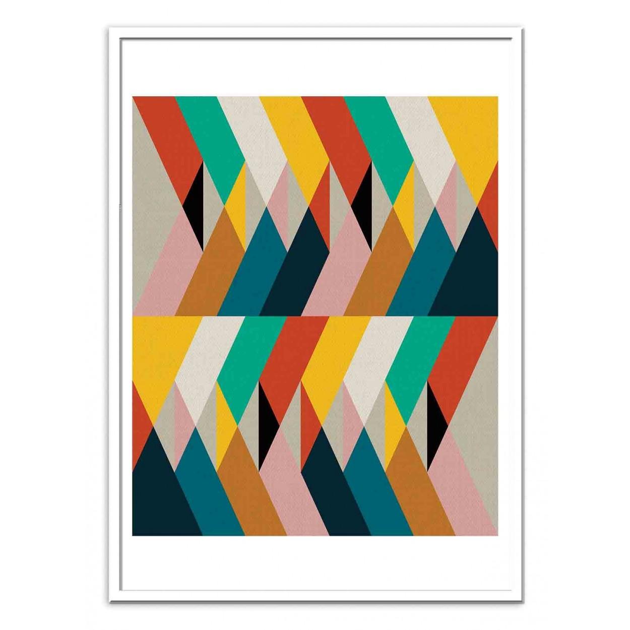 affiche d 39 art et poster design illustration de formes g om triques. Black Bedroom Furniture Sets. Home Design Ideas