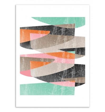 Art-Poster 50 x 70 cm - Fragments 3 - Susana Paz