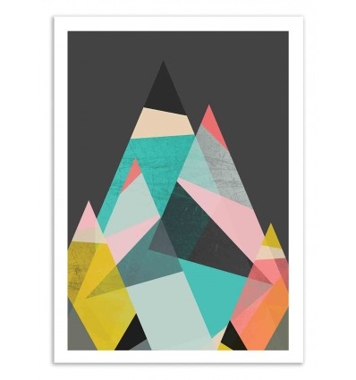 Art-Poster 50 x 70 cm - Geo mountains - Susana Paz