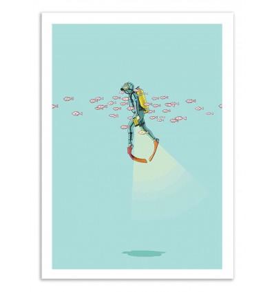 Art-Poster 50 x 70 cm - Float under the sea - Jason Ratliff