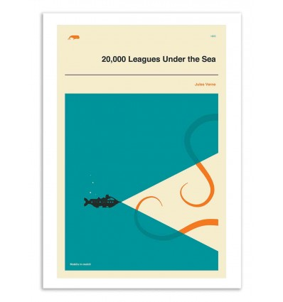 Art-Poster 50 x 70 cm - 20,000 leagues under the sea - Jazzberry Blue
