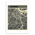 Art-Poster - Amsterdam Map - Jazzberry Blue