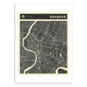 Art-Poster - Bangkok Map - Jazzberry Blue